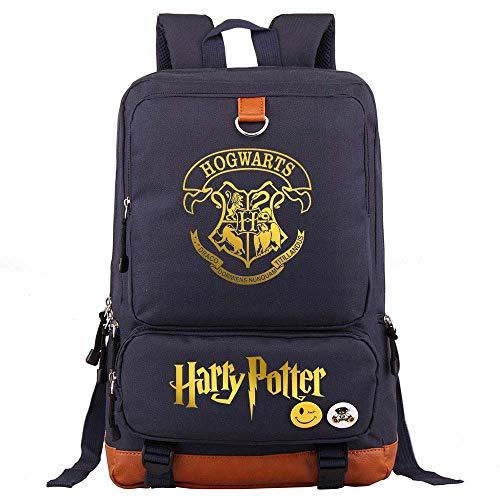 Zaino scuola laptop Hogwarts College, zaino scuola studente unisex Harry Potter zaino casual Medio blu navy