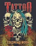 Tattoo Coloring Book: Japanese Vintage Tattoos Illustration Art Designs Such As Sugar Skulls, Dragons, Snake, Roses And More For Adults - Relaxing ... – Great Gift Idea For Women, Men & Teens