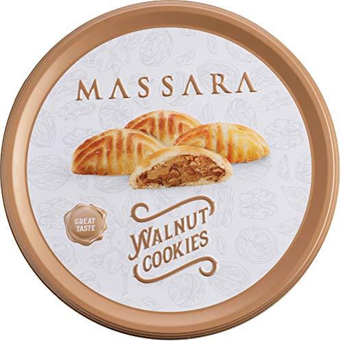 MASSARA Walnut Cookies in der Metalldose - Cookies gefüllt mit Walnüssen Kekse (200 GR)