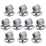Outus Pen Holder Clips Manganese Steel Pen Holder Self Adhesive Pen Pencil Organizer with Adjustable Spring Loop for Refrigerator Whiteboard Erase Board and Bulletin Board Map (10 Pieces, Silver)