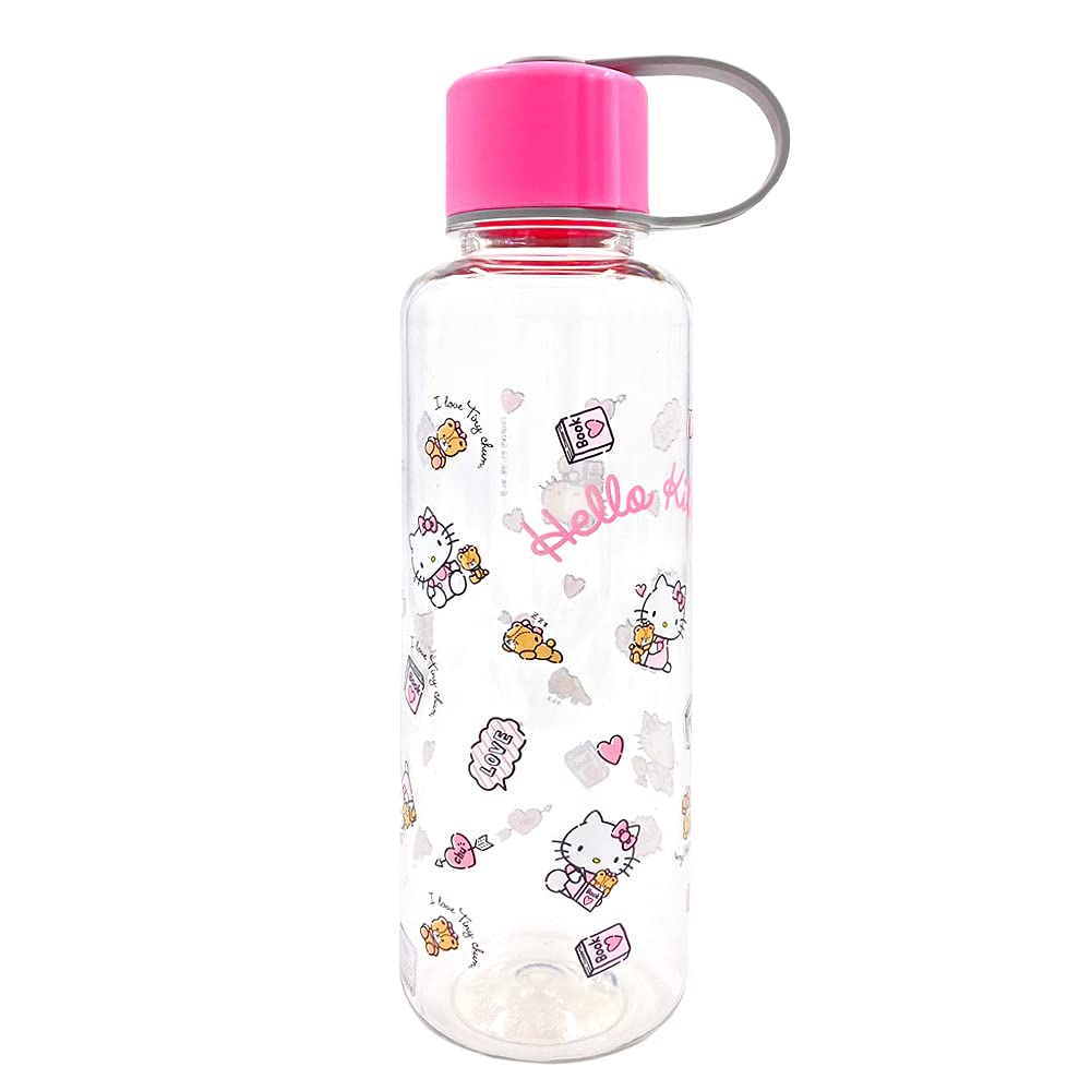 Sanrio Hello Kitty Play Bottle 17oz Water Bottle BPA Free : Pink