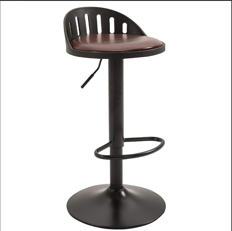 QianLiJiaJi Bar Stool - Bar Chair Chair Lift redatable high Stool PP Material Large Chassis 3 colors Modern bar Chair (color   C)