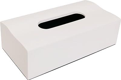 いけだ ティッシュケース おしゃれな ウェーブティッシュボックス ホワイト 50372