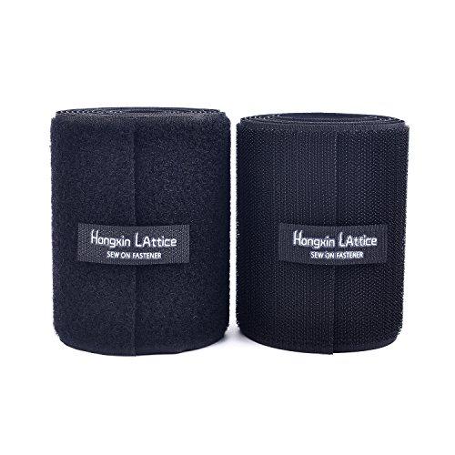 10CM Breite 2 Meter lang Klettband Nähen auf Haken und Schleife Streifen mit Nicht-Adhesive Backed Nylongewebe Fasten Set,schwarz