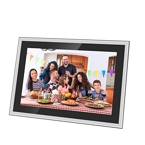 Feelcare Digital WiFi Picture Frame 10 inch, Send Photos or Videos from Anywhere, 5GHZ WiFi,16GB Storage,1920x1200 IPS FHD Display,Touchscreen for Easy Navigation Digital Frames Picture