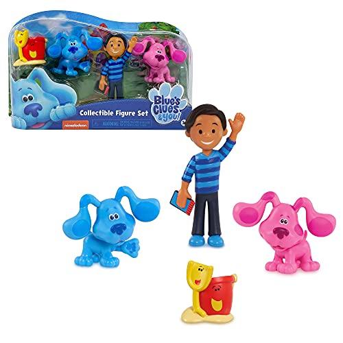 Giochi Preziosi-BLU04000 Blue's Clues & You, Set 4 Personaggi, Multicolore, BLU04000