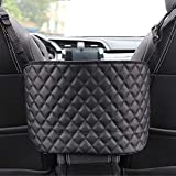 Car Net Pocket Organizer Handbag Holder Mesh Arm Rest Organizer Large Capacity Cargo Net for Bags, Purse, Phones, Documents, Barrier of Back Seat for Pet Kids