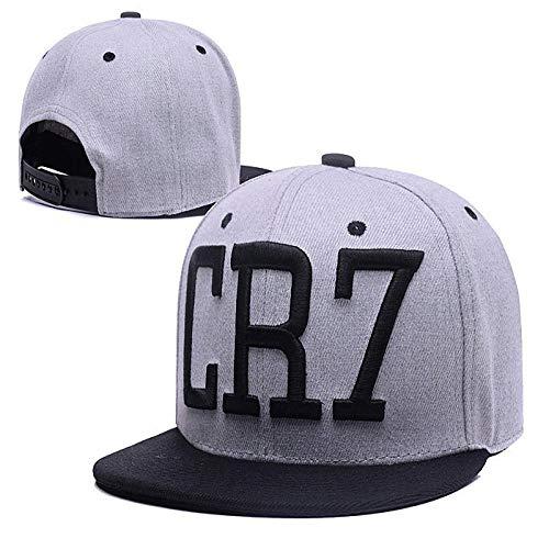 Baseball Kappe Snapback Cap HutMode Cristiano Ronaldo Cr7 Baseball Caps Hip Hop Sport Fußball Hut Männer Frauen Coupie Hüte Grau