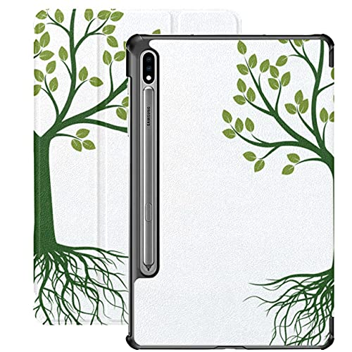Apple Tree Grow Tree Carcasa Galaxy Tab S7 Plus 2020 para Samsung Galaxy Tab S7 / s7 Plus Funda para Tableta 7 Pulgadas Funda Trasera Samsung Tab A Funda para Galaxy Tab S7 11 Pulgadas S7 P