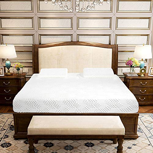 Buy 10 Three Layers Cool Medium High Softness Cotton Mattress with 2 Pillows (Full Size) White