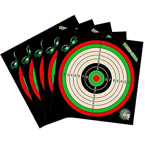fritz-cell 100 Zielscheiben 14x14cm für Luftgewehr Luftpistole Airsoft und Kugelfang