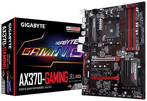 GIGABYTE GA-AX370-Gaming (AMD Ryzen AM4/ X370/ SMART FAN 5/ HDMI/ M.2/ 2xUSB 3.1 Gen 2 Type-A/ ATX/ DDR4 Motherboard)