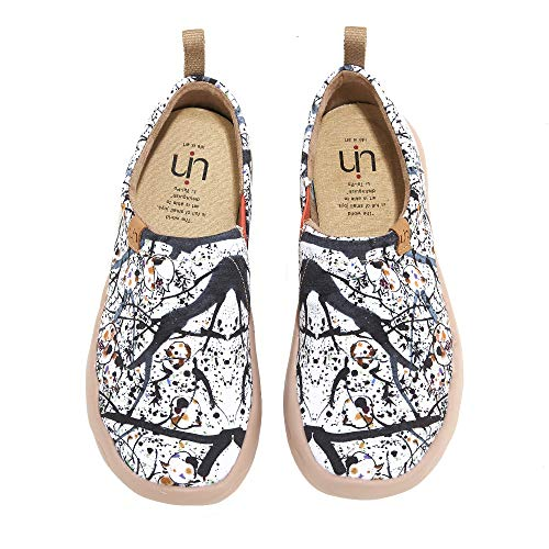 UIN Scarpe Ginnastica Melograno Scarpe Espadrillas per Donna Casual Slip on Mocassini Sneakers Basse Colorate in Tela Dipinta a Mano 38