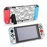 Chien Bouledogue français Chiot Visage tête de Chien Accessoires de Protection étui pour Nintendo Switch, étui ancrable pour Console Nintendo Switch