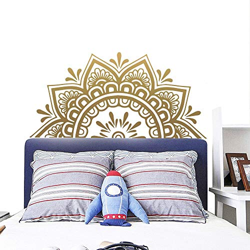 Hauptdekor böhmische Vinyl Wandaufkleber Kunst Aufkleber Mandala Blumenmuster Kopfteil halbes Schlafzimmer Dekoration Yoga Studio DIY Poster Wandbilder