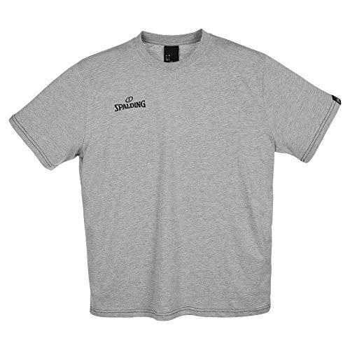 Spalding Team II T-Shirt Camiseta de Entrenamiento, Hombre, Gris Melange, XL