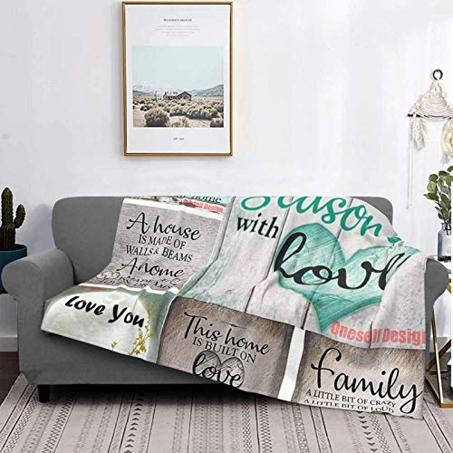 PAMPHLET Happy 's Day - Manta de forro polar de franela, suave y cálido, manta de sofá duradera, cómoda y ligera, para oficina, hogar, cama