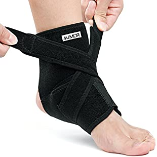 Ankle Support, 4UMOR Adjustable Ankle Brace Nylon Material Breathable Design One Size Fits All for Walking, Running, Sprains, Arthritis, Achilles etc:Ukcustomizer