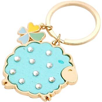 Skyeye Barber Shop Sign Keychains Hanging Ornament Keyring Purse Bag Pendant Key Chain Rings