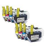 RICR Reemplazo De Cartucho De Tinta Compatible LC3017 para Brother MFC-J5330DW MFC-J6530DW (Paquete BK/C/M/Y 4) 2 Set