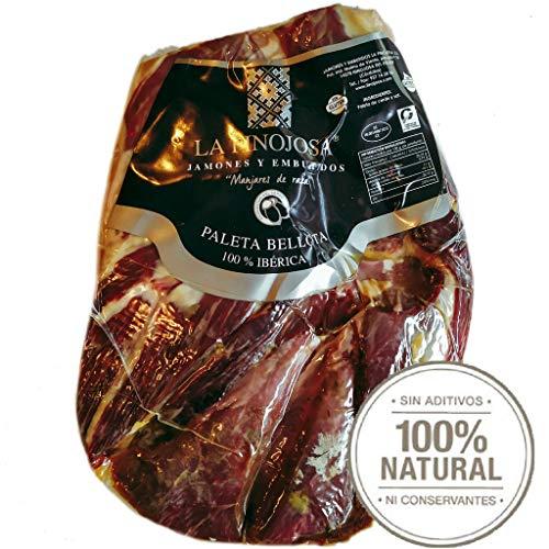 2.2 Kg Jambon 100% Iberique PATA NEGRA Bellota (épaule) Sans Os - De porcs ibériques nourris avec des glands et 100% naturel - Jambon Désossé, Jamon Iberico de Bellota Pata Negra