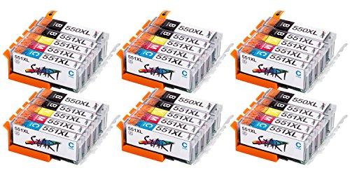 Start – 30 XL Ersatz Chip Patronen kompatibel zu Canon PGI-550BK XL Schwarz, CLI-551BK XL Foto-Schwarz, CLI-551C XL Cyan, CLI-551M XL Magenta, CLI-551Y XL Gelb für Canon Pixma iP7250, iP8750, iX6850, MG5450, MG5550, MG6350, MG6450, MG7150, MX725, MX925