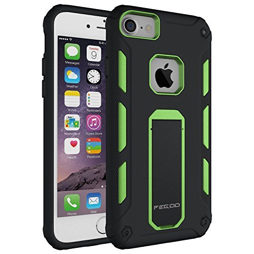 Case for iPhone 6s, [iPhone 7 iPhone 6 iPhone 8 Universal Shell] Impact Resistant Heavy Duty Shockproof Rugged Impact Armor Hybrid Kickstand Protective Cover Case for iPhone 8/6 / 7 (4.7) (Green)
