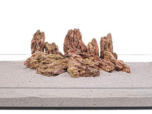 Aquarium Natursteine Drachenstein braun 20 Kg Gr.M 300-700 g Nr.62 Steine Deko Felsen Pagode Dekoration Aquascaping