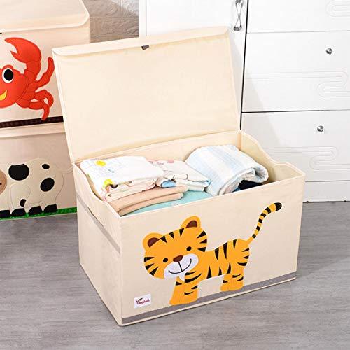 Caja de almacenamiento para juguetes infantiles, con tapa, diseño de dibujos animados, plegable, cesta para guardar juguetes de los niños