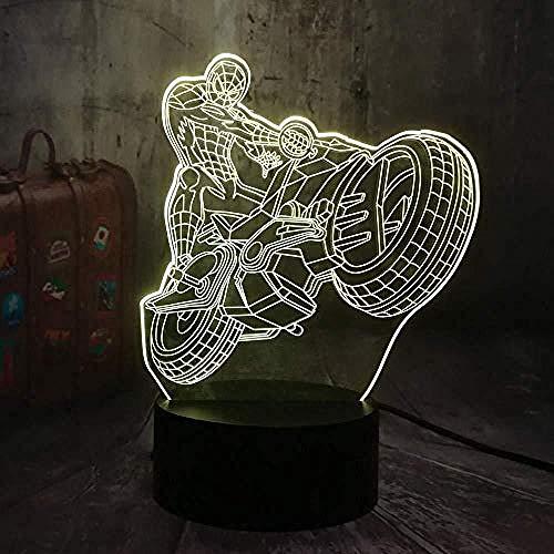 3D Nachtlampje 7 Kleuren Led Tafellamp Slaapkamer Decor Baby Christmas Gift Boy Kid Toys