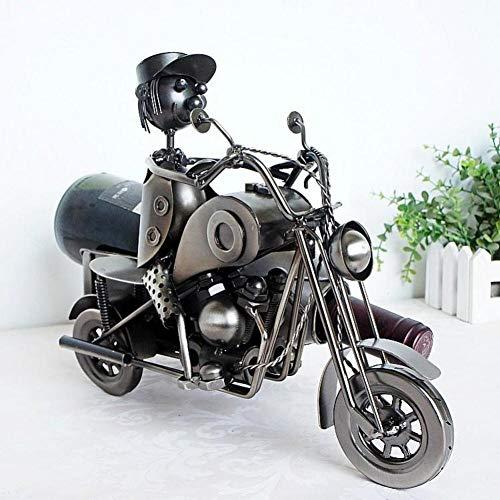 TZSHUQ Creatieve Modellering van Metalen Ambachten voor Driewielige Motorfiets Wijn Levering en Wijnrek (Zonder Fles)
