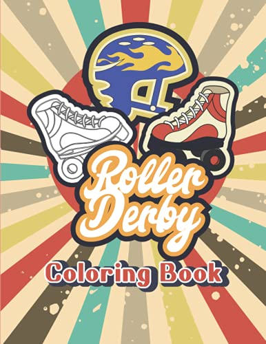Roller Derby Blades Skates for Women and Kids Coloring Activity Book