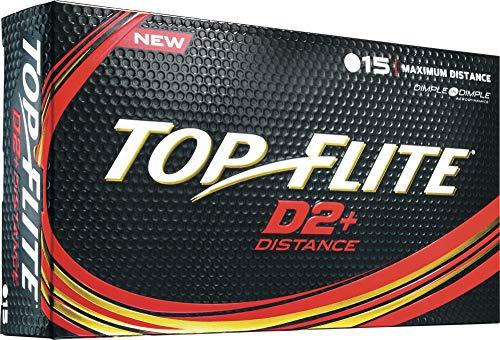 Top-Flite 2016 D2+ Distance Golf Balls – 15 Pack