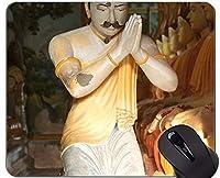 独特な注文のマウスパッドのマウスパッド、祈りの引用の宗教仏像のゴム製マウスパッド