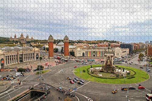 España Suare Barcelona Rompecabezas para adultos 1000 piezas Regalo de viaje de madera Recuerdo