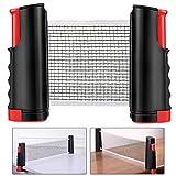 Red de tenis de mesa MMBox, portátil, retráctil, de repuesto, negro /rojo