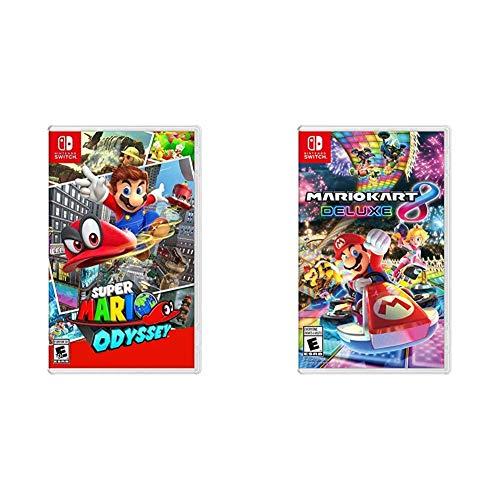 Super Mario Odyssey - Nintendo Switch & Mario Kart 8 Deluxe - Nintendo Switch