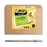 BIC Round Stic Xtra Life Ballpoint Pen, Medium Point 144 ct