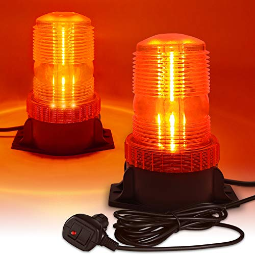 LED Strobe Light, 12V-24V Warning Emergency Safety Flashing Beacon Lights with Magnetic and 16.4 ft Straight Cord Vehicle Forklift Truck Tractor Golf Carts UTV Car Bus
