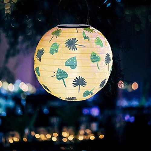 Lampions Solar Außen Bunt Solarlaterne Wasserdicht Hängende Gartenlaterne Garten Deko Papierlampen für Hochtzeit Kirche Garten Party Dekoration Wasserdicht Lampion Laternen Solar Lichterkette Auße