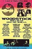 Woodstock Poster Line Up (61cm x 91,5cm) + Original tesa