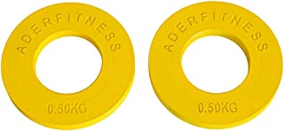 Ader Olympic Fractional Plates Pair- .5 Kg Yellow
