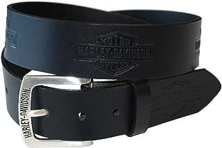 Harley-Davidson Men's Tradition Bar & Shield Belt Black Leather HDMBT10576