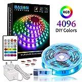 LED Lights Strips 5m/16.4ft, 4096 DIY Color Bason Color Changing led Strip Lights with 24 Key IR Remote, RGB...
