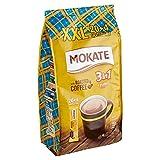 MOKATE Karamell - Bacchette XXL 3 in 1 per caffè solubile con crema e zucchero e olio di cocco, caffè istantaneo in chicchi di caffè tostato, contenuto di caffeina 408 g (24 x 17 g)