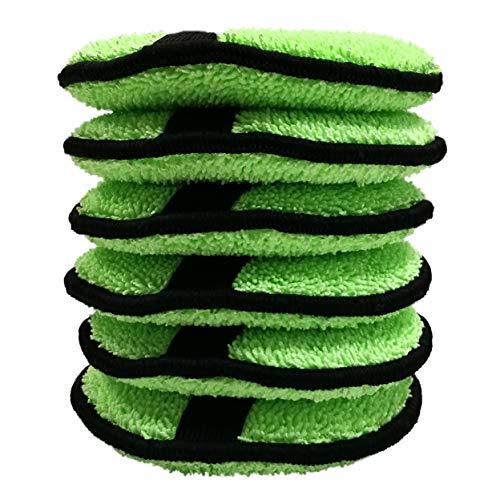 Polyte - Runde Polier- & Reinigungspads aus Mikrofaser - Grün - 12,7 cm - 6 Stück
