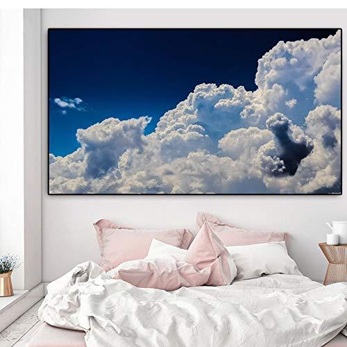 baodanla Rahmenlose ölgemälde Landschaft Druckplakat Moderne Wolke Blauer Himmel Ng Gedruckt Auf Leinwand Wandbilder Für Wohnzimmer Quadro Home 60x90cm