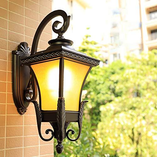 MJZHJDe Pared Exterior Lámpara de Pared Exterior Lámpara Impermeable/Creativa Pasillo Balcón Lámpara de Pared Luz de Pared (Size : Small)