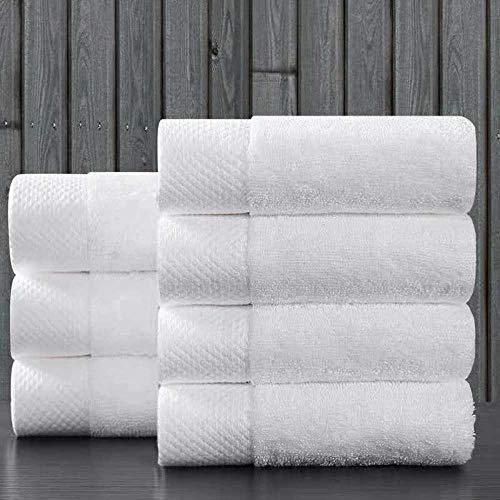 1 Pieza de Toallas de algodón para el hogar, Cocina, Toalla de Mano, baño de Hotel, Toalla de Cara Blanca, 35x35 / 35x75 / 40x80cm, 35x75cm