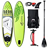 AQUA-MARINA Stand up Paddle Gonflable Sup AQUAMARINA Thrive 2019 Pack Complet 315x79x15cm Unisex Adult, Vert Noir Blanc, 3157915 10'4'x31''x6''